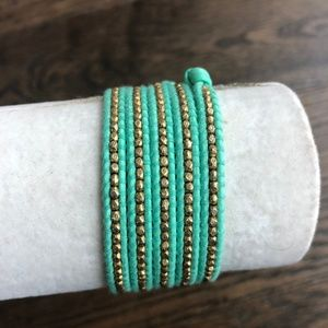 Chan Luu Jewelry - New Auth Chan Luu Gold Nugget Five Wrap Light Teal
